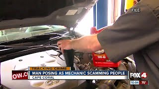 Fake mechanic scamming people in parking lots