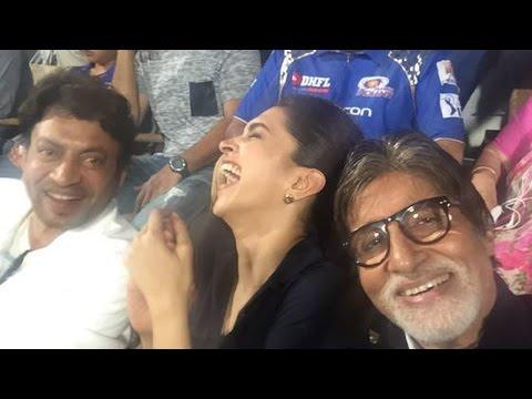 IPL 8: Watch Big B, Deepika & Irffan cheer for Mumbai Indians