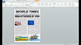 Word 2010 Newspaper Project autoshape