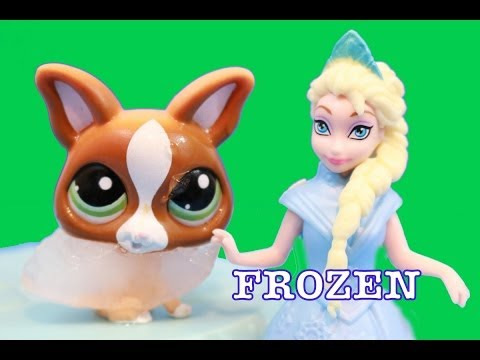 FROZEN Queen Elsa FREEZES Littlest Pet Shop LPS dog