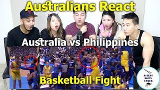 Huge Basketball Fight Breaks Out Between Australia And Philippines | Reaction - Australian Asians