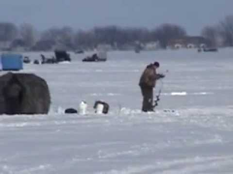 Big spirit lake fishing report iowa for Ice fishing iowa