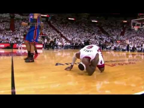 Lebron James Does The Worst Flop Of The 2012 NBA Playoffs.... So Far - YouTube