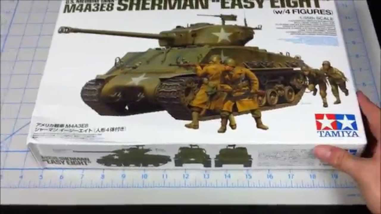 Tamiya M4a3e8 Sherman Tamiya 1/35 M4a3e8 Sherman ''
