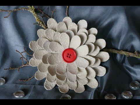 Blüte basteln – Blume basteln – basteln mit Eierschachteln – einfach