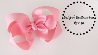 HOW TO: TBB/Twisted Boutique Bow (Another method for making this hairbow)