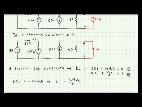 Teorema de Norton - Problema Aplicacion - Circuitos Electricos - 015
