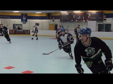 Storm vs. Grim Reefers - Period 1 (1/9/14) Roller Hockey Dangles Dekes Moves Skills Goals