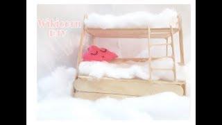 Hướng dẫn làm giường tầng mini cho búp bê || Wikicorn DIY