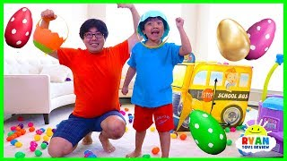 Easter Egg hunt Surprise Toys Challenge for Kids with Ryan ToysReview