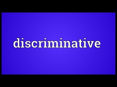 Header of discriminative