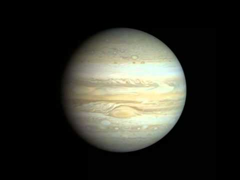 Voyager 1 Jupiter cloud timelapse animation