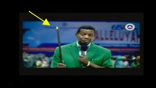 Pastor Adeboye's video exposed by strange woman using rod to pray