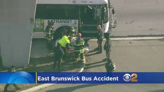 School bus and transit bus crash in East Brunswick, N.J.