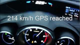 Honda Civic 2013 1,6 i-DTEC - acceleration 0-200 km/h + Vmax test