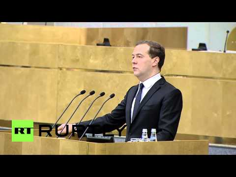 Russia: Crimea reunification comparable to fall of the Berlin Wall says PM Medvedev
