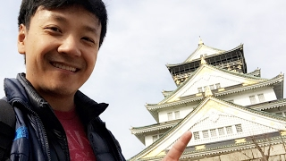 Ancient Osaka Castle & LAST Day in Japan