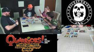 Review of WizKids Quarriors! Dice Building Game