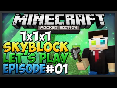 [0.9.5] Minecraft Pocket Edition: 1x1x1 Skyblock - Ep.1 - Cobble Generator