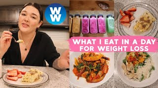 WHAT I EAT IN A DAY ON WW FOR WEIGHT LOSS | MYWW BLUE