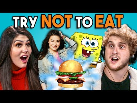 Try Not To Eat Challenge - Nickelodeon Food  People Vs. Food