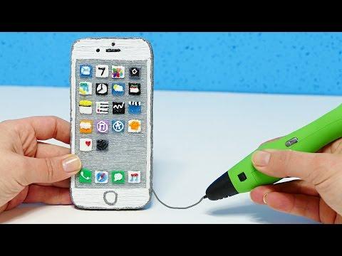 КАК СДЕЛАТЬ iPHONE 7 3D РУЧКОЙ?! 3D PEN iPHONE 7 DIY