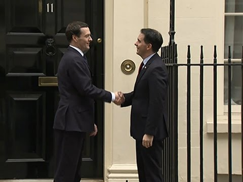 Wisc. Governor Scott Walker Talks Trade in UK