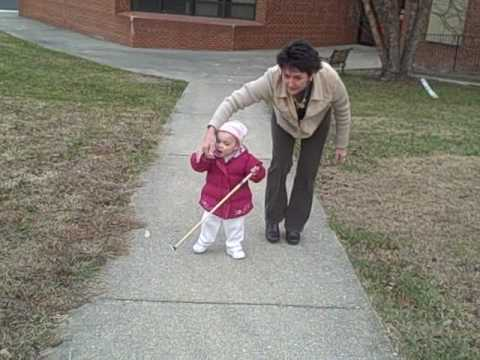 Watch me go!!! Blind preschooler uses cane.