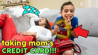 TAKING My Mom's CREDIT CARD To Buy iPHONE X! **NO BUDGET** | The Royalty Family