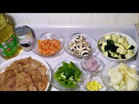 Legumes Frais Poulet Frit I Recette Rapide et Facile