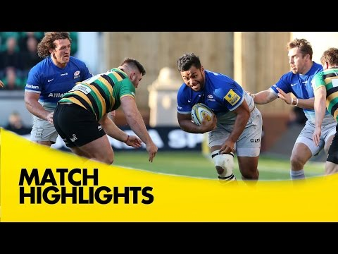 Northampton Saints Vs Saracens - Aviva Premiership 2015/16  | Rugby Video Highlights