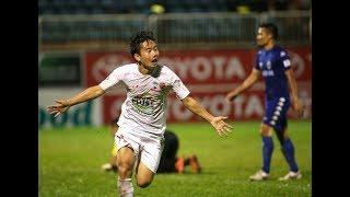 Minh Vương bùng nổ với cú hattrick xé mảnh lưới B. Bình Dương tại V.league 2016   HAGL FC