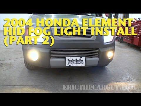 2004 Honda Element HID Fog Light Install (Part 2) -EricTheCarGuy