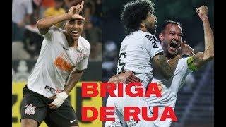 """Corinthians não rende o esperado, mas reage. Galo segue no modo """"briga de rua"""""""