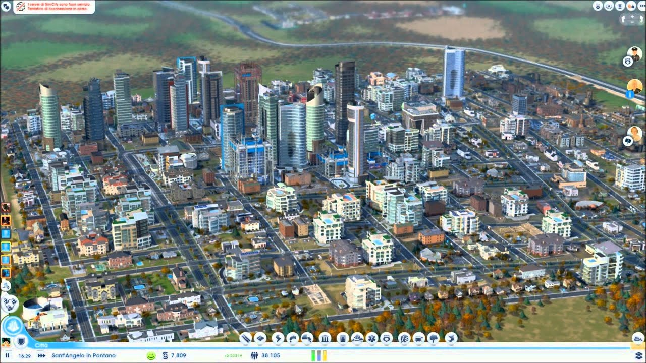 Simcity 2013 gameplay best city view ita part 1 for Online games similar to sims