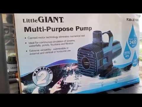 Backyard Aquaponics - Water Pumps - Little Giant F20-2700 review