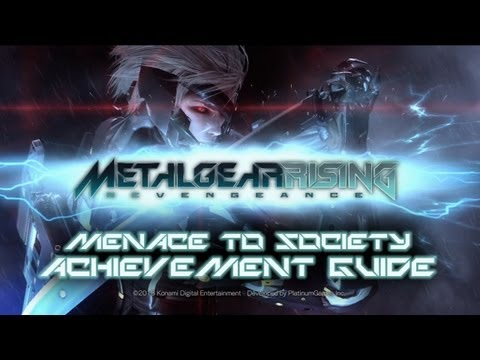 Metal Gear Rising: Revengeance - Menace To Society Achievement trophy Guide video