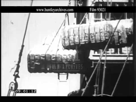 Transporting cotton in Uganda.  Archive film 93021