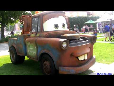 Meet &amp; Greet Real Life Lightning McQueen Life-size Mater, Finn McMissile, Mack Truck Hauler Disney