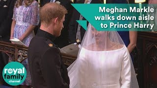 Meghan Markle walks down aisle to Prince Harry