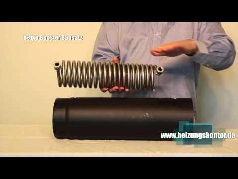 Abgaswärmetauscher Bausatz Heiko Booster® Wasserführende Rauchgaskühler / Wärmetauscher Selber Bauen
