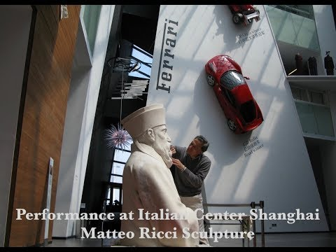 Dionisio Cimarelli Performance . F1 Sky TV Sport at Ferrari Museum in Shanghai