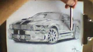 Ford Mustang - Speed Drawing
