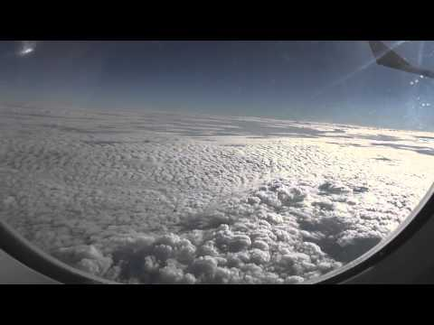 Sri Lankan Airlines Inflight video, flying over The Arabian Peninsula