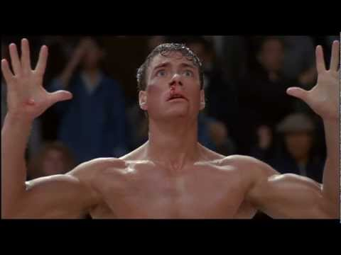 Frank Dux (Jean Claude Van Damme) getting blinded by Chong Li in 'Bloodsport.'