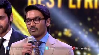 Micromax Siima 2015 | Best Lyricist Tamil | Dhanush | Amma Amma