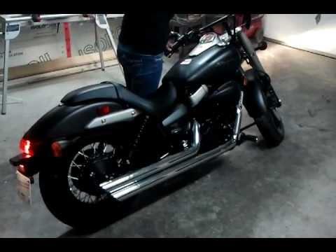 2012 Honda Shadow Phantom 750 With Cobra Exhaust Youtube
