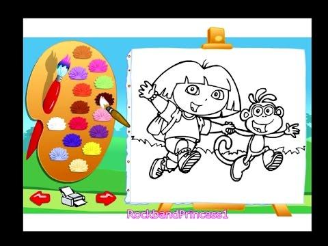Dora The Explorer Online Games Coloring Game