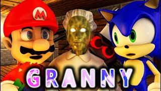 GRANNY VS Super Mario vs Sonic the Hedgehog CHALLENGE! (official) Minecraft Horror Game Animation