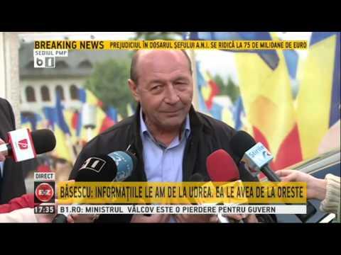 Traian Basescu, suspect in dosarul acuzatiilor facute la adresa Gabrielei Firea